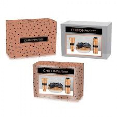 Set cadou Chifon Rose Couture ( Apa de parfum 100ml + deodorant spray corp 200ml + lotiune corp 200ml), Femei