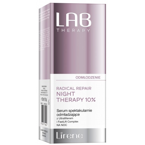 Ser facial antirid de noapte Lirene Lab Therapy, 30ml