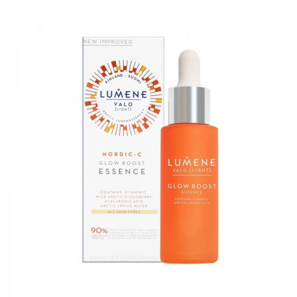 Ser iluminator cu acid hialuronic si vitamina C,  Lumene Valo [Light], 30ml